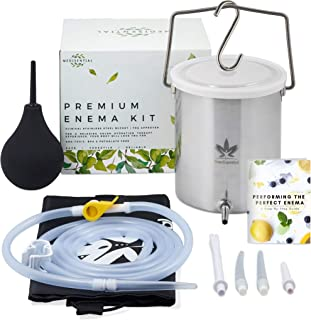 Medisential Enema Kit - Suitable for Coffee, Water and Gerson Therapy - Stainless Steel Bucket - Large for ...