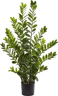 Nearly Natural 4' Zamioculcas Artificial Silk Plants, Green