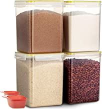 Komax Biokips Flour and Sugar Storage Containers | [Set of 4] Large Sugar and Flour Canisters (175-oz) W 2 Measuring Scoop...