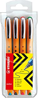 Stabilo Bionic Worker Rollerball 0.5mm Medium , Set of 4 , Multicolored