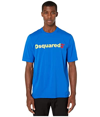 DSQUARED2 Negative Dyed Slouch Fit T-Shirt (Bluette) Men