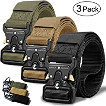 QINGYUN RONGQI 2 Pack Tactical Belt,Military Style Quick Release Belt,1.5