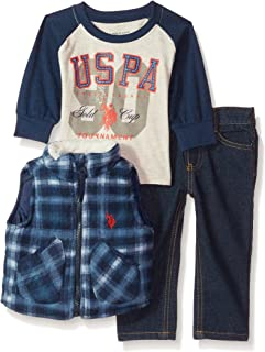 Baby Boys' Vest, T-Shirt and Pant Set