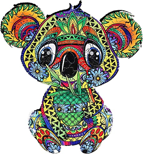 lowest OPTIMISTIC Unique Shaped Wooden Jigsaw Puzzles - Baby Koala - Wooden high quality Puzzle Jigsaw, wholesale Best Gift for Adults and Kids,6х 4Inch, 109 Pieces, 2.5MM Thick Pieces online sale
