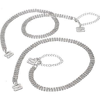 Useful Rhinestone Bra Straps For Women Elegant Crystal Bra Shoulder Accessory SZ