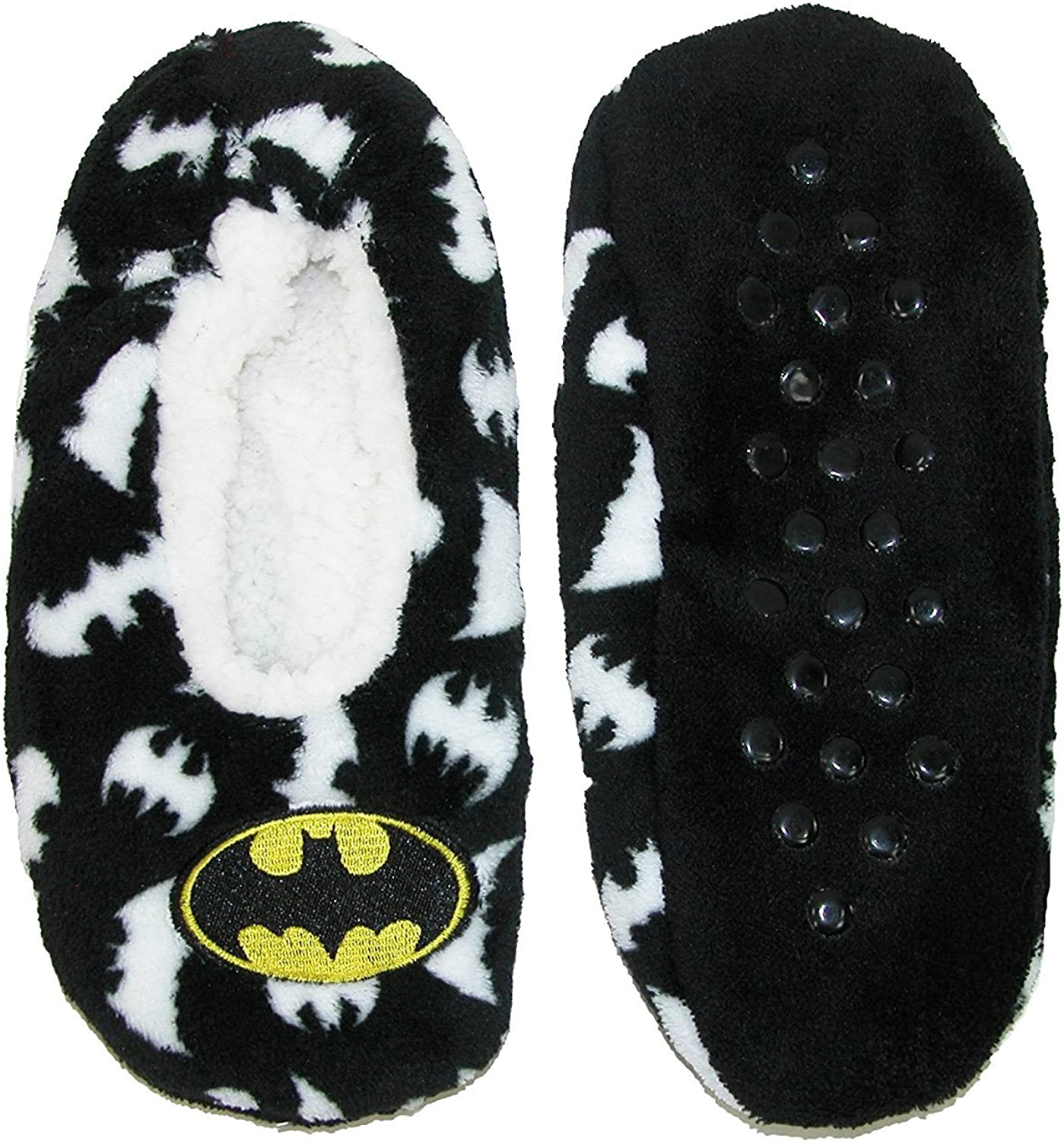 Batman Womens Cozy Slipper Socks, Large X-Large