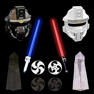 FUN LITTLE TOYS Halloween Costumes for Kids Light Saber Kit LED Laser Sword Set (Battery Included)