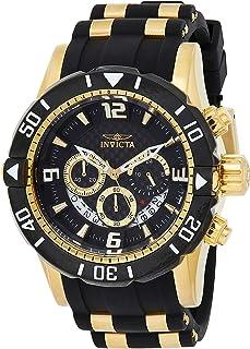 ساعت غواصی کوارتز فولاد ضد زنگ مردانه Invicta Pro Diver با بند پلی اورتان ، دو رنگ ، 24 (مدل: 23702)