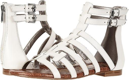 Bright White Vaquero Saddle Leather
