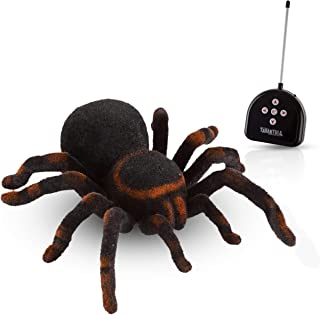 Advanced Play Remote Control Spider Toy Realistic 8 Inch Tarantula Animal Figures Funny Prank Joke Scare Gag Gifts for Halloween Christmas Party decor Birthdays Holidays April Fool Pranks