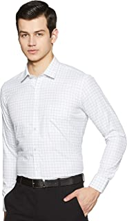 Amazon Brand - Symbol Men's Checkered Slim Fit Full Sleeve Formal Shirt