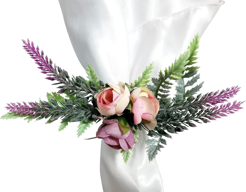 Direct store Getfitsoo Handmade Flower Napkin Rings Plastic Set 4 of Minneapolis Mall