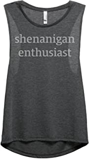 Shenanigan Enthusiast Women's Fashion Sleeveless Muscle Tank Top Tee