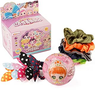 DERKA Big Surprise Dolls for Girls 12 Hair Scrunchies, Cute Anime Figure Collectible Toys, Include Clothes and Fashion Accessories Classic Series (N-CCD1002)