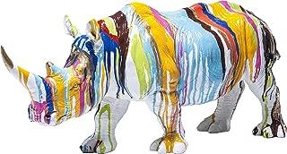 Argento 53 x 19 x 44 cm KARE Testa Decorativa Rhino Antico