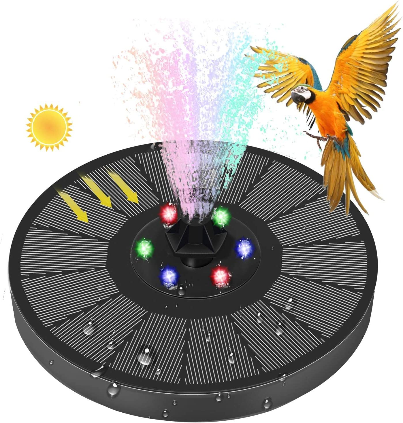 Solar Fountain With LED Lights Bath Surprise price Pump Bird Po Sale price