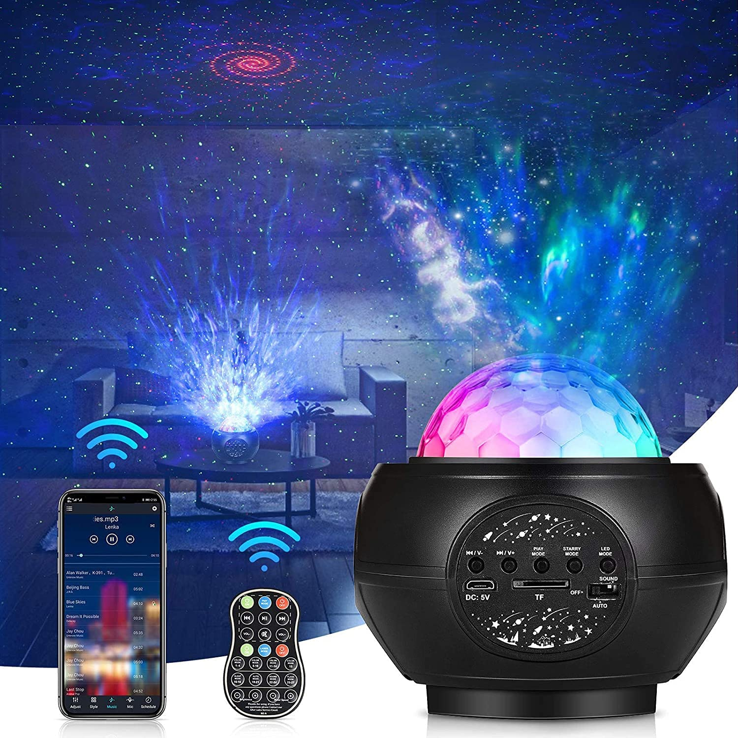 Star Projector Night Light Sales for sale Blue with Store Bedroom