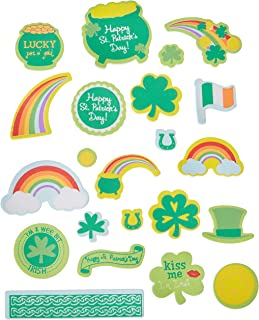 Darice St. Patrick's Day Pot O' Gold Foam Stickers-67 pc