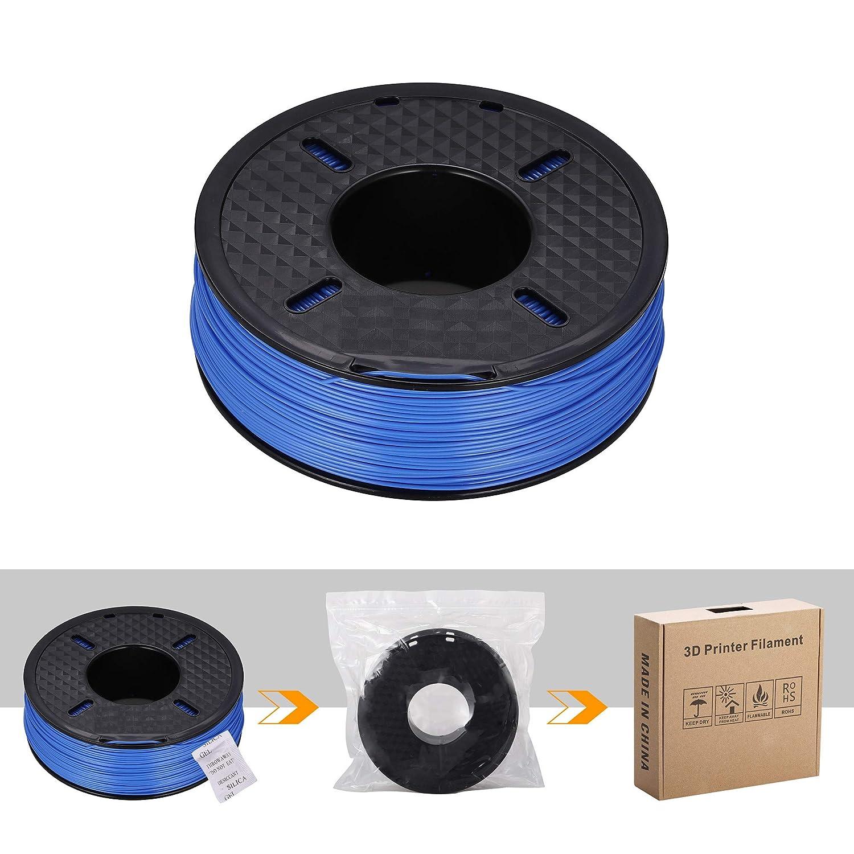 DOYOLLA PLA 3D Printer Printing Filament 1.75 mm Dimensional Accuracy +//- 0.02 mm 1 kg Spool Fit Most FDM Printer Black