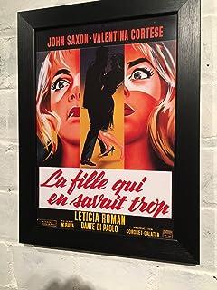 Vintage francés Reproducción de película Póster A4en elección de 3marcos de la película