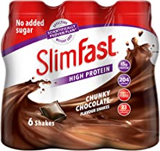SlimFast High Protein Meal Replacement Ready-to-Drink Shake Chunky Chocolate Flavour 325 ml Pack of 6 Estimated Price : £ 7,99