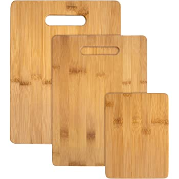 Totally Bamboo 3-Piece Bamboo Serving and Cutting Board Set
