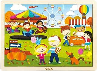 VIGA 24 pcs  Puzzle - Autumn