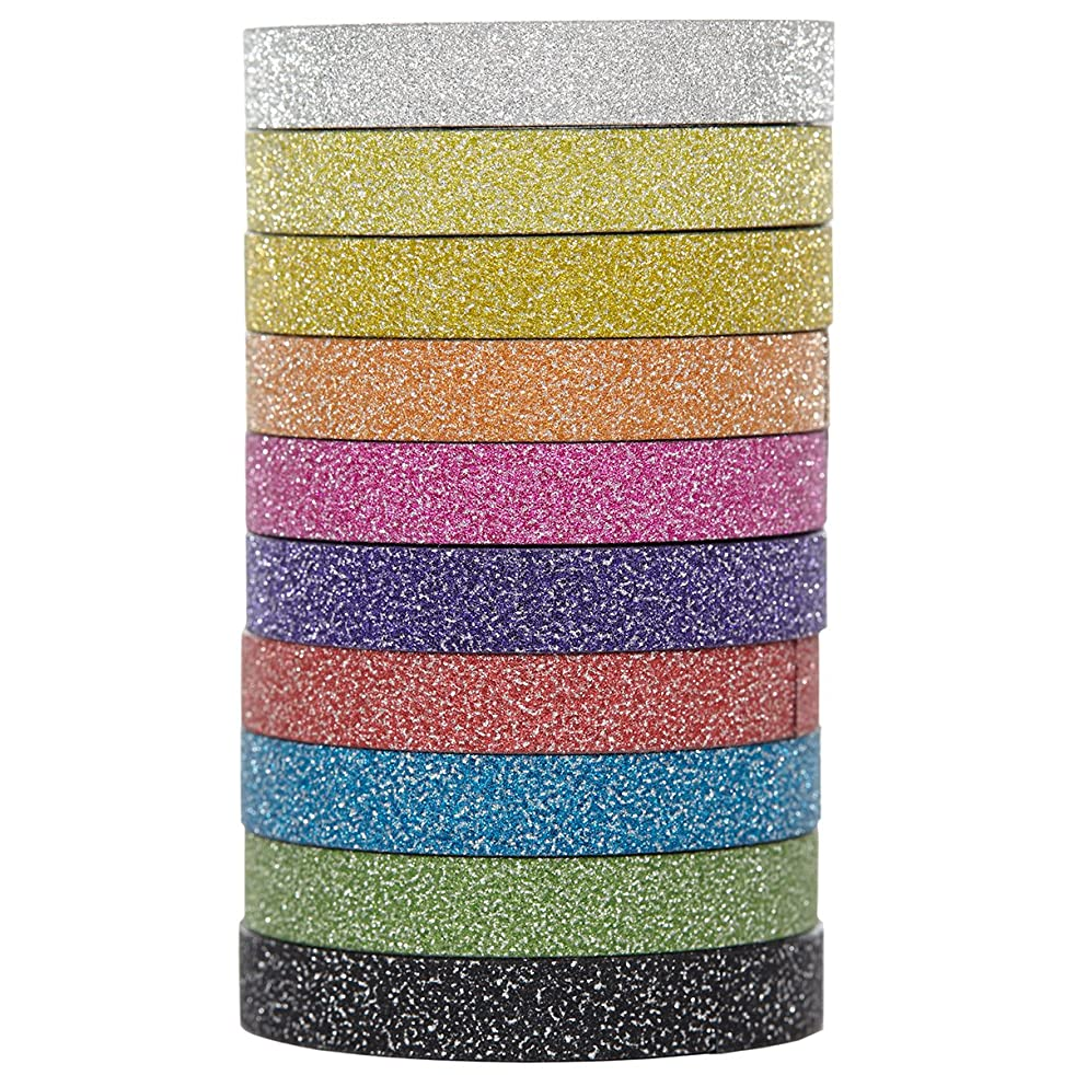 X-Press It Glitter Deco Tape 6mm x 3m 10 Rolls