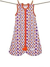 Little Fishkopp Organic Cotton Baby Sleep Bag, Stars, 2.5 Tog, Purple/Orange, Large