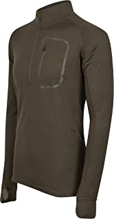 Mens 100% Lightweight Merino Wool 1/4 Zip Pullover