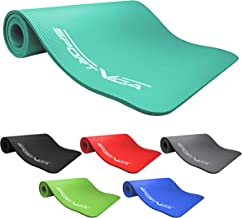 SportVida Yogamat fitnessmat voor yoga pilates gymnastiek   schuimrubber NBR   180 x 60 x 1,5 cm (groen)
