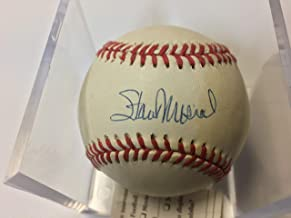 stan musial autographed baseball card