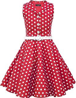 Kids 'Holly' Vintage Polka Dot 50's Girls Dress