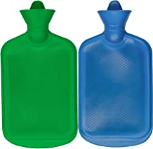 SteadMax بطری آب داغ، لاستیک طبیعی -BPA رایگان - دوام داغ کیسه آب برای گرم فشرده و گرما درمان، رنگ تصادفی (2 بسته)