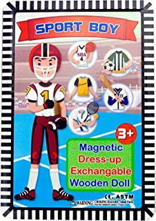 J&C Sport Boy Magnetic Dress-up Wooden Doll