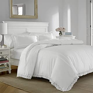 Laura Ashley Annabella Comforter Set, Full/Queen, White