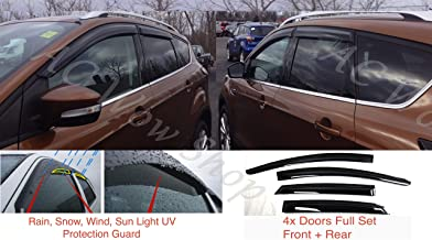 AC WOW 4x compatible with Renault Clio IV Mk4 2012 2013 2014 2015 2016 2017 2018 2019 5-door hatchback Wind Deflectors Acrylic Glass PMMA