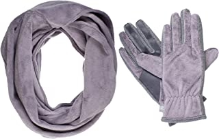Isotoner Women's Teddy Infinity Scarf and Smartouch Glove Gift Set