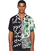 Versus Versace - Checkerboard Tropical Button Down