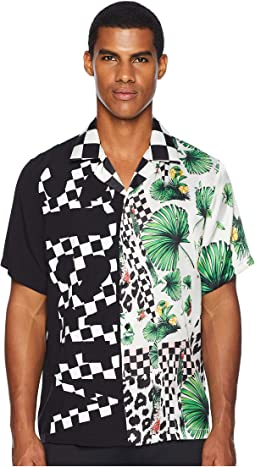 Checkerboard Tropical Button Down