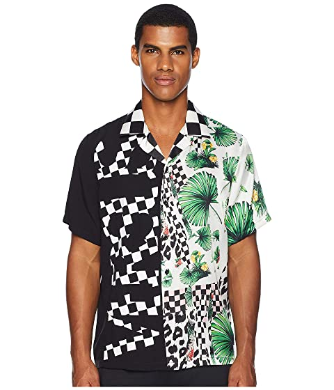 Versus Versace Checkerboard Tropical Button Down