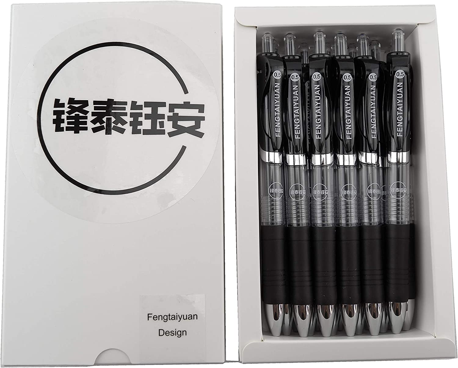 Fengtaiyuan ADP18 Retractable Gel Pens OFFicial mail order 0.5mm store Extra Ink Black