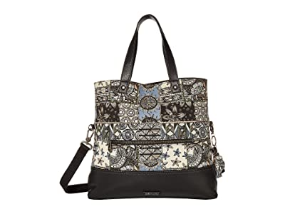 Sakroots Colby Convertible Tote (Black Desert Patch) Handbags