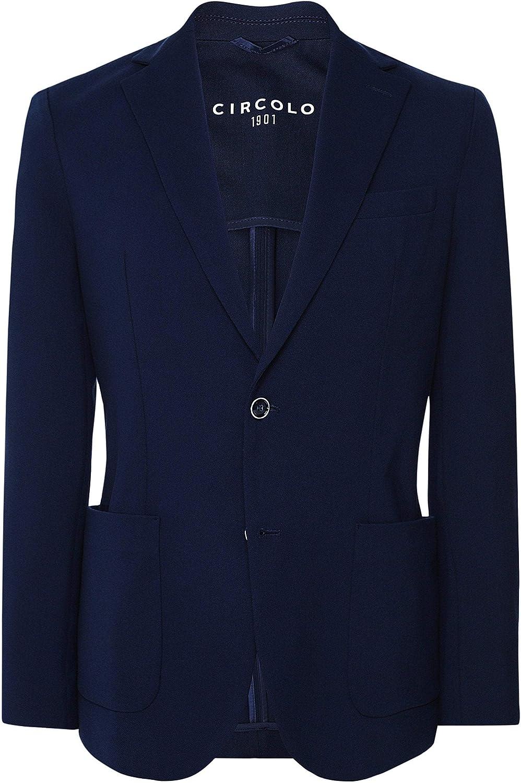 Circolo 1901 Men's Slim Fit Travel Stretch Jacket Blue