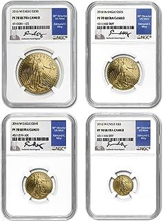 2016 gold american eagle set pf70