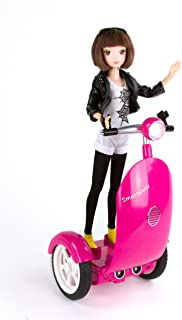 SmartGurlz Coding Robot for Girls, Jun on Robotic Scooter, STEM Education, Manage Screen time and Kids Learn to Code While at Home, Rechargeable Battery is Required (Battery not Included)