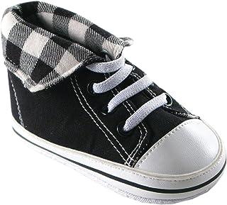 Luvable Friends - Zapatillas de caña Alta Plegables para bebé