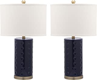 Safavieh Lighting Collection Roxanne Navy 26-inch Table Lamp (Set of 2)