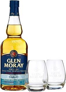 Glen Moray Elgin Classic Peated Single Malt Scotch Whisky mit 2 Gläsern 1 x 0.70 l