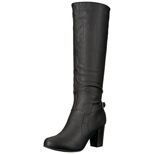 1f0e1acc048 Womens Regular and Wide-Calf High-Heeled Buckle Detail Boot